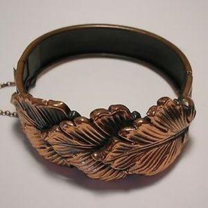 Golden leaves vintage bracelet